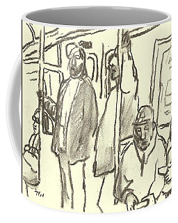 Subway Sketch, Nyc Coffee Mug