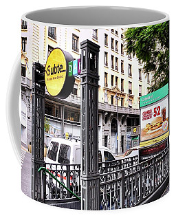 Subway Station Entrance In Buenos Aires Coffee Mug