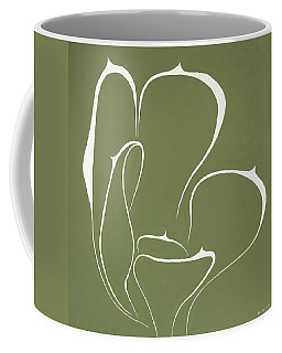 Coffee Mug featuring the painting Succulent In Green by Ben Gertsberg