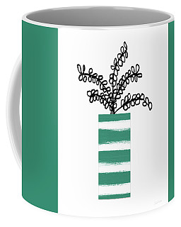 Succulent In Green Pot 1- Art By Linda Woods Coffee Mug
