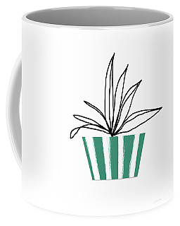 Succulent In Green Pot 3- Art By Linda Woods Coffee Mug