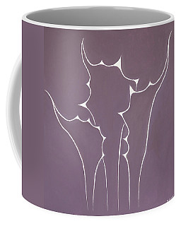 Coffee Mug featuring the painting Succulent In Violet by Ben Gertsberg