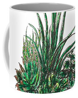 Coffee Mug featuring the painting Succulents by Monique Faella