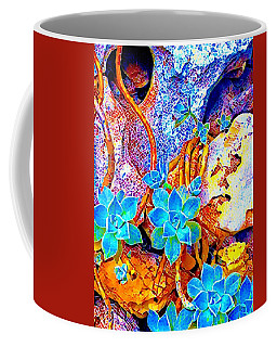 Succulents On River Rock Coffee Mug