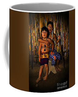 Coffee Mug featuring the photograph Sucua Kids 901 by Al Bourassa