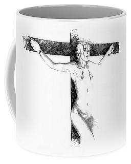 Suffering On The Cross Drawing I Coffee Mug