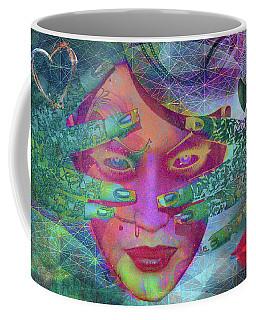 Sugar Face Peek Coffee Mug