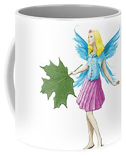 Sugar Maple Tree Fairy Holding A Leaf Coffee Mug