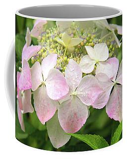 Coffee Mug featuring the photograph Sugar Pink Hydrangea Flower by Nareeta Martin