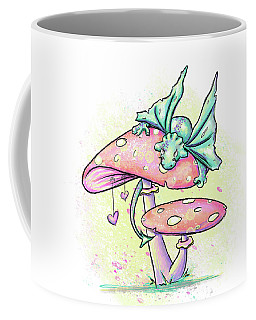 Coffee Mug featuring the digital art Sugar Puff The Dragon by Lizzy Love