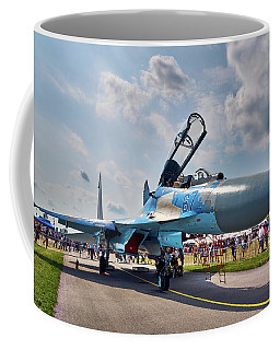 Coffee Mug featuring the photograph Sukhoi by Tgchan