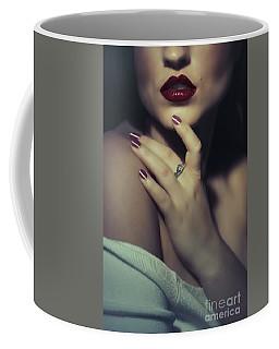 Sultry Dark Haired Woman Coffee Mug