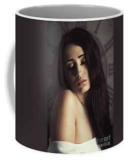 Sultry Woman Eyes Closed Coffee Mug