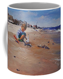 Coffee Mug featuring the painting Summer 2016 by Laura Lee Zanghetti