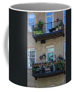 Summer Balconies In Chicago Illinois Coffee Mug