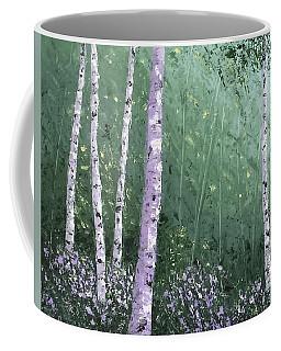 Summer Birch Trees Coffee Mug