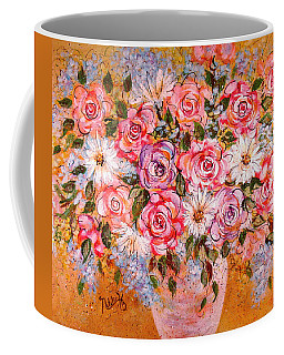 Coffee Mug featuring the painting Summer Bouquet by Natalie Holland