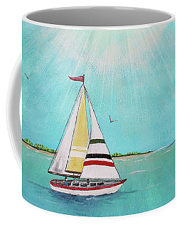 Coffee Mug featuring the painting Summer Breeze-b by Jean Plout