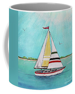 Coffee Mug featuring the painting Summer Breeze-d by Jean Plout
