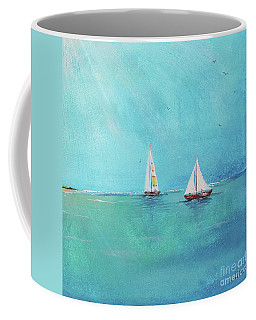 Coffee Mug featuring the painting Summer Breeze-e by Jean Plout