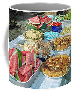 Summer Buffet In Garden Coffee Mug