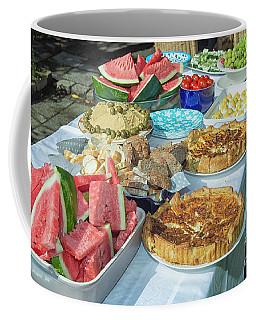 Summer Buffet In Garden Coffee Mug by Patricia Hofmeester