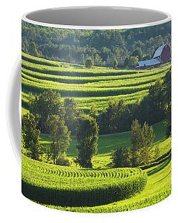 Coffee Mug featuring the photograph Summer Cornfield Landscape by Alan L Graham