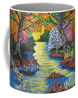Summer  Deer Crossing Coffee Mug