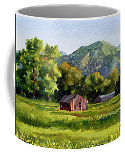 Coffee Mug featuring the painting Summer Evening by Anne Gifford