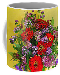 Coffee Mug featuring the photograph Summer Flower Bouquet by Byron Varvarigos