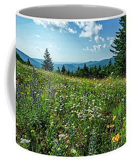 Coffee Mug featuring the photograph Summer Flowers In The Highlands by Thomas R Fletcher