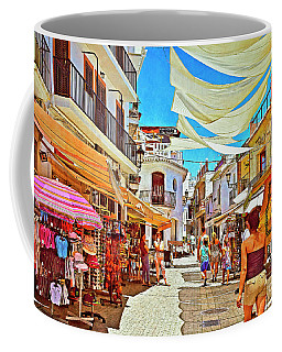 Coffee Mug featuring the photograph Summer In Malaga by Mary Machare