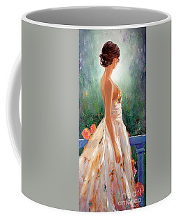 Coffee Mug featuring the painting Summer In Provence by Michael Rock