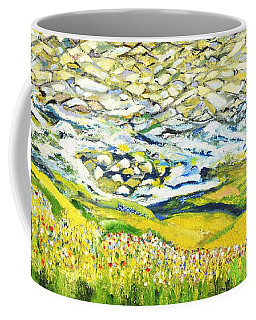 Coffee Mug featuring the painting Summer In The Wild by Evelina Popilian