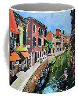 Coffee Mug featuring the painting Summer In Venice - Venezia - Dreaming Of Italy by Jan Dappen