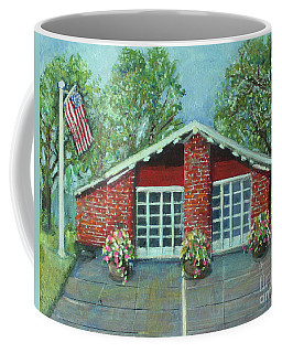 Summer Morning At Trapelo Road Fire Station Coffee Mug by Rita Brown