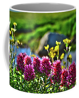 Coffee Mug featuring the photograph Summer Morning Blossoms by Marie Leslie