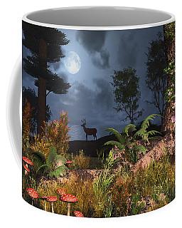 Coffee Mug featuring the digital art Summer Night Magic by Mary Almond