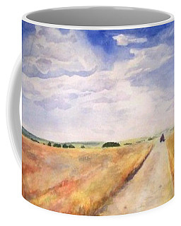 Coffee Mug featuring the painting Summer On The Farm by Andrew Gillette