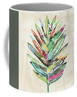 Coffee Mug featuring the mixed media Summer Palm Leaf- Art By Linda Woods by Linda Woods