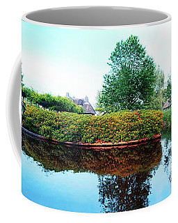Coffee Mug featuring the photograph Summer Panorama Of  In Old Dutch Village by Ariadna De Raadt