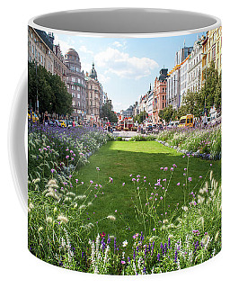 Coffee Mug featuring the photograph Summer Prague by Jenny Rainbow