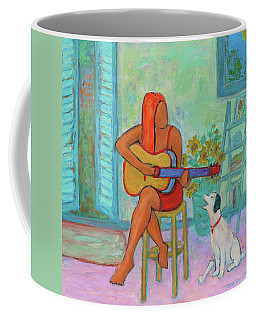 Coffee Mug featuring the painting Summer Serenade II by Xueling Zou