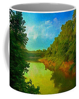 Summer Soft Morning Creek Coffee Mug