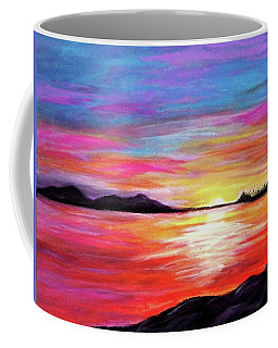 Coffee Mug featuring the painting Summer Sunrise by Sonya Nancy Capling-Bacle