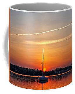 Summer Sunset At Anchor Coffee Mug