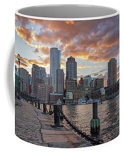 Summer Sunset At Boston's Fan Pier Coffee Mug