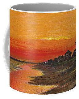 Summer Sunset At  Crystal Beach Coffee Mug