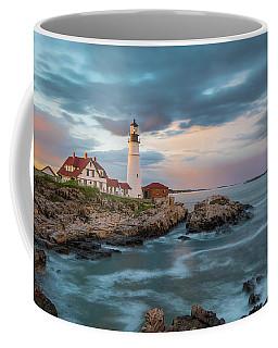 Summer Sunset At Portland Head Light Coffee Mug