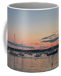 Summer Sunset In Boothbay Harbor Coffee Mug